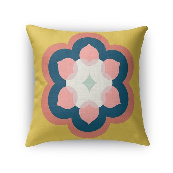 MODERN BLOOM GOLD Indoor|Outdoor Pillow By Kavka Designs