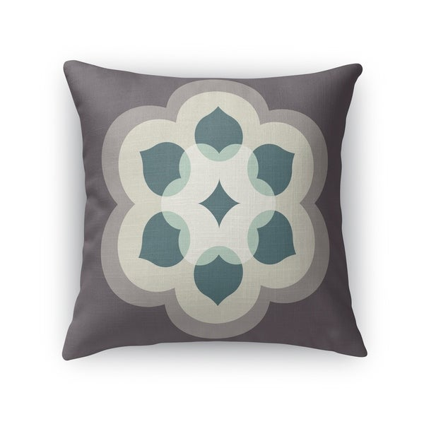 MODERN BLOOM ASH Indoor|Outdoor Pillow By Kavka Designs