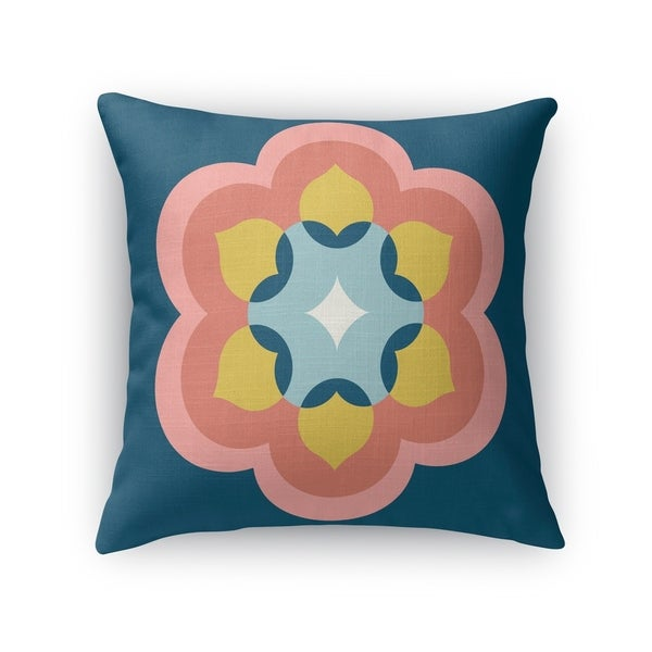MODERN BLOOM NAVY CORAL Indoor|Outdoor Pillow By Kavka Designs