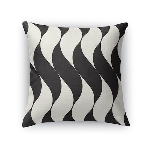 SWISH BLACK Indoor-Outdoor Pillow By Kavka Designs
