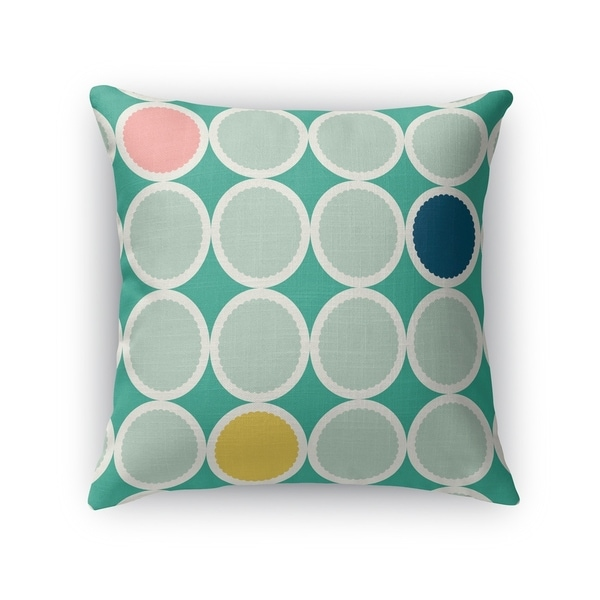 SCALLOPED CIRCLES SEAFOAM Indoor|Outdoor Pillow By Kavka Designs