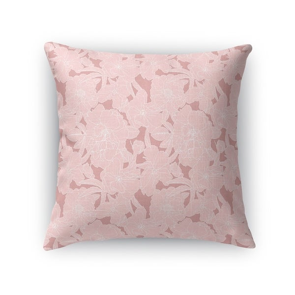 FLOWER POWER LDARK PINK Accent Pillow By Kavka Designs