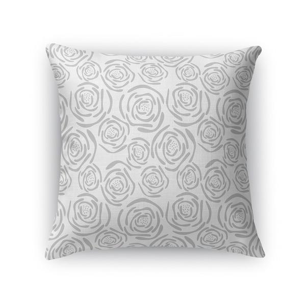 FLEUR GREY Accent Pillow By Kavka Designs