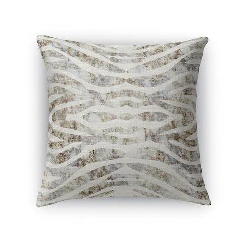 TIGER NEUTRAL Indoor-Outdoor Pillow By Kavka Designs
