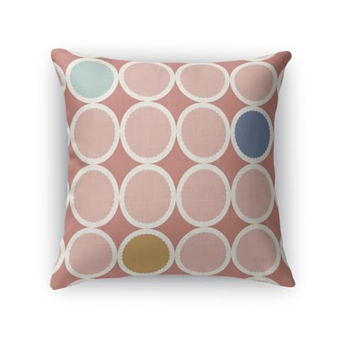 SCALLOPED CIRCLES DUSTY ROSE Indoor-Outdoor Pillow By Kavka Designs