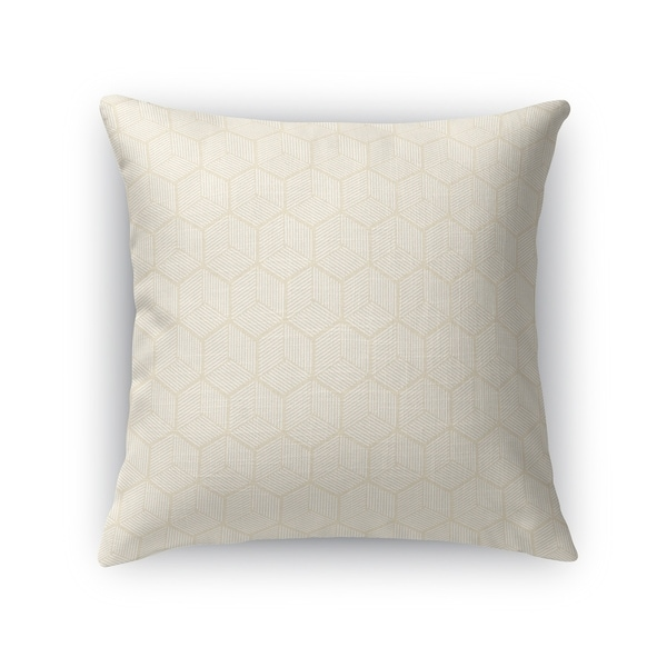 GEOCUBE OATMEAL Accent Pillow By Kavka Designs