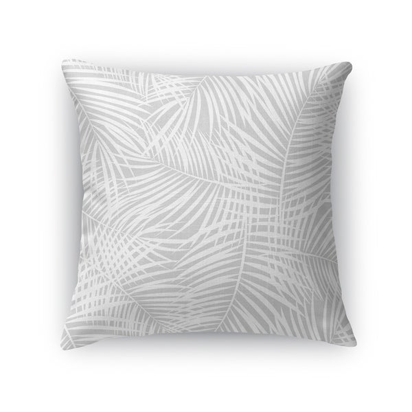 PALM PLAY GREY Accent Pillow By Kavka Designs