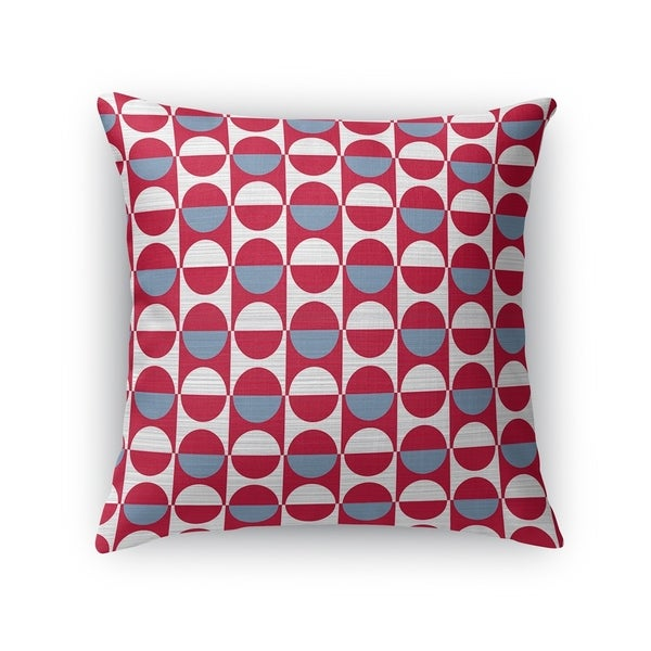 MOD SQUAD BLUE RED WHITE Accent Pillow By Kavka Designs