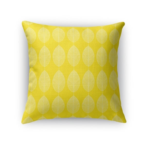 LEAF KEEF YELLOW Accent Pillow By Kavka Designs