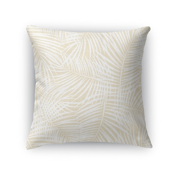 PALM PLAY OATMEAL Accent Pillow By Kavka Designs