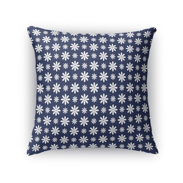 FLOWER SHOWER NAVY Accent Pillow By Kavka Designs