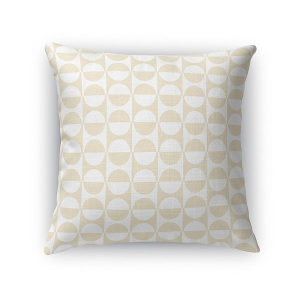 MOD SQUAD OATMEAL AND WHITE Accent Pillow By Kavka Designs