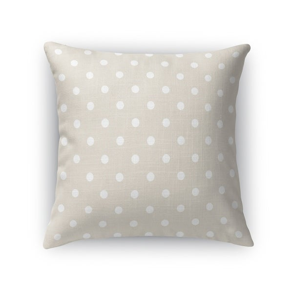POLKA DOTS WHEAT Accent Pillow By Kavka Designs