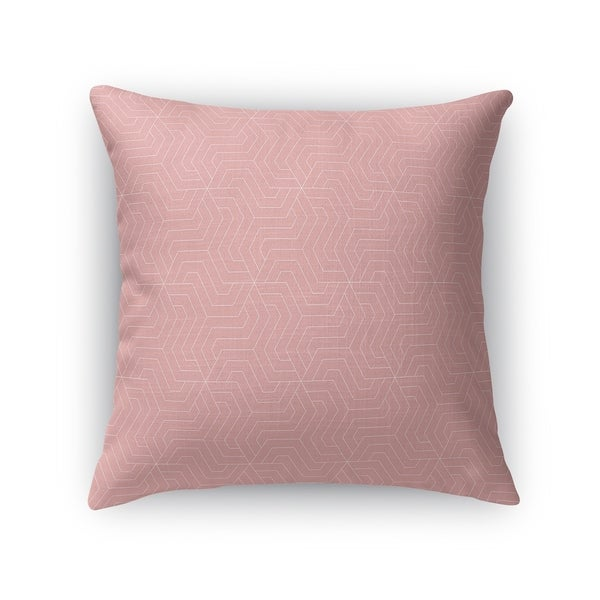 ZEUS PINK AND WHITE Accent Pillow By Kavka Designs