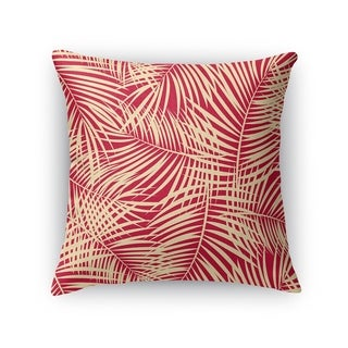 PALM PLAY RED Accent Pillow By Kavka Designs
