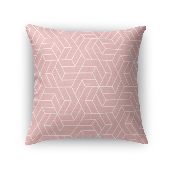 TITAN PINK WHITE Accent Pillow By Kavka Designs