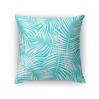 PALM PLAY TEAL WHITE Accent Pillow By Kavka Designs