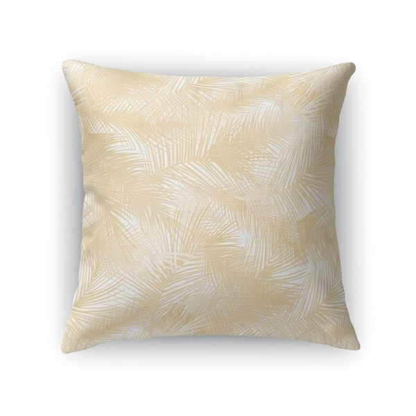 PALM CHEER OATMEAL Accent Pillow By Kavka Designs