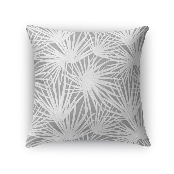 PALM BALM DARK GREY Accent Pillow By Kavka Designs