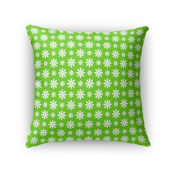 FLOWER SHOWER GREEN Accent Pillow By Kavka Designs
