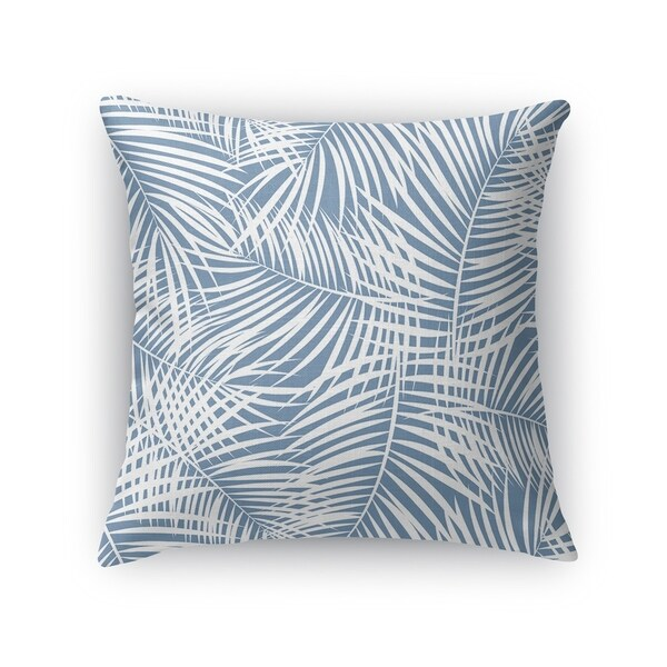 PALM PLAY BLUE Accent Pillow By Kavka Designs