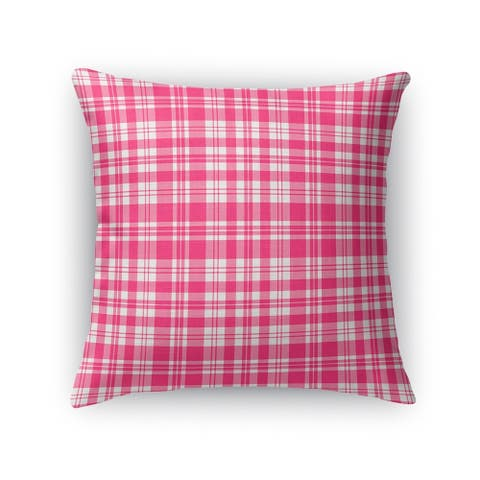 Porch & Den Lark Pink Plaid Accent Pillow