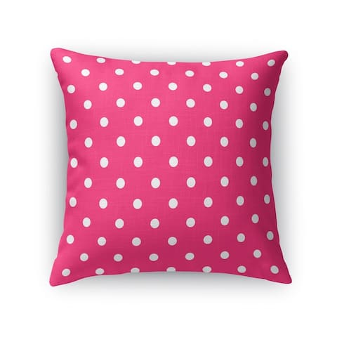 POLKA DOTS PINK Accent Pillow By Kavka Designs