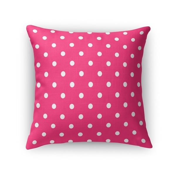 POLKA DOTS PINK Accent Pillow By Kavka Designs