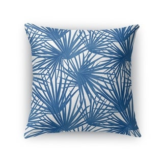 PALM BALM BLUE ON WHITE Accent Pillow By Kavka Designs
