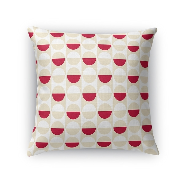 MOD SQUAD RED CREAM AND WHITE Accent Pillow By Kavka Designs