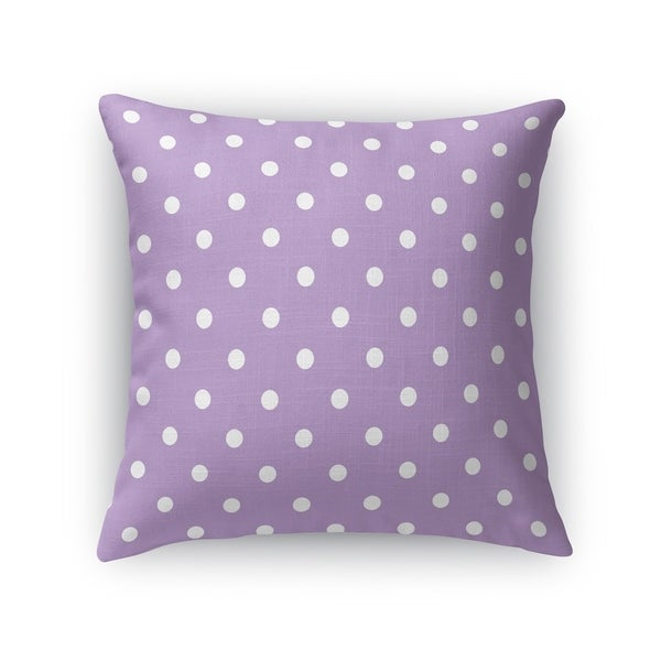 POLKA DOTS LAVENDER Accent Pillow By Kavka Designs