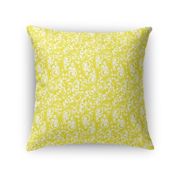 PLUMERIA YELLOW Accent Pillow By Kavka Designs