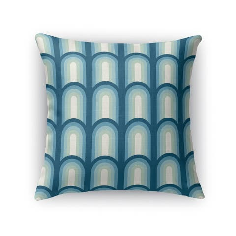 ARCHES BLUE Indoor-Outdoor Pillow By Kavka Designs