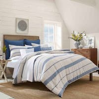 Nautica Norcross Navy Cotton Duvet Cover Set