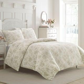 Laura Ashley Faye Toile Cotton Duvet Cover Set