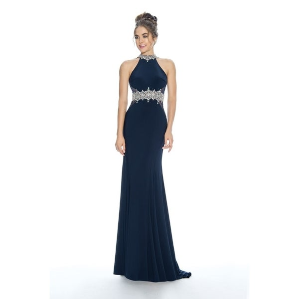 Stella Couture Halter Neck Prom Long Dress. Opens flyout.
