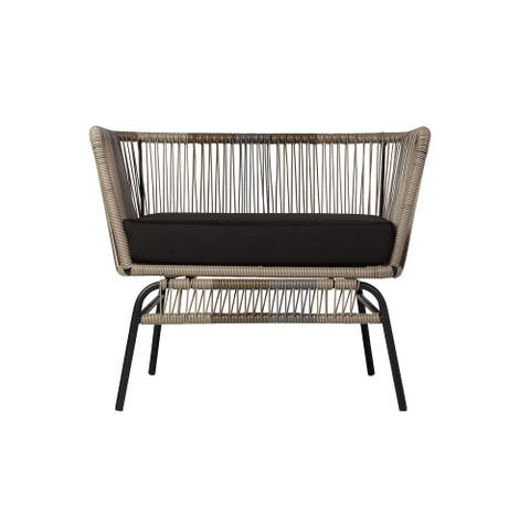 Kiwai Indoor/Outdoor Wide Acapulco Lounge Chair with Cushion by Havenside Home