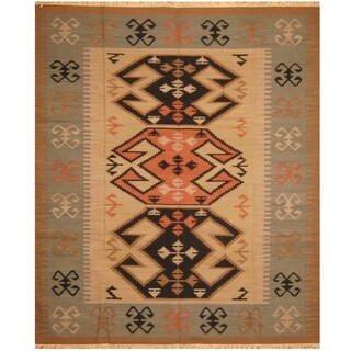 Handmade Wool Kilim (India) - 8'2 x 9'9