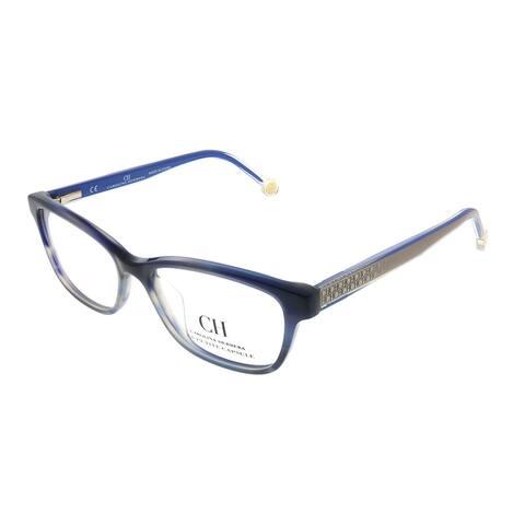 Carolina Herrera Women's Blue Havana Frame Eyeglasses