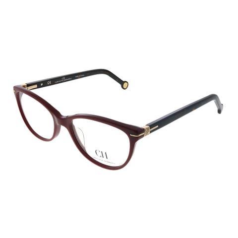 Carolina Herrera VHE 660K G96 Women's Burgundy Plastic Frame 52-millimeter Eyeglasses