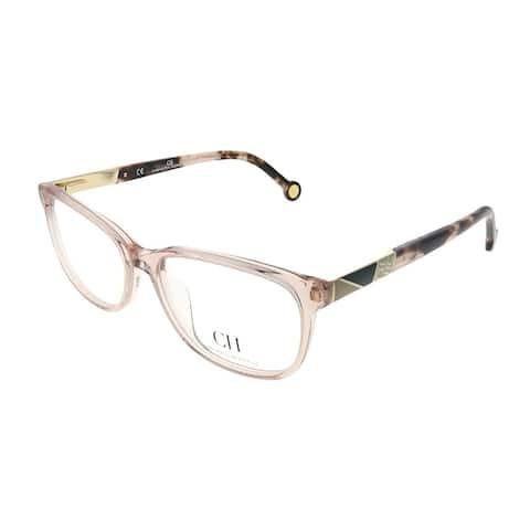 Carolina Herrera Women's Pink Crystal Frame 53-millimeter Eyeglasses