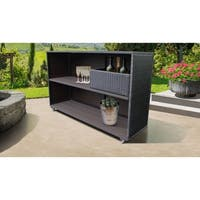 Belle Bar Cart with Basket Outdoor Wicker Patio Furniture