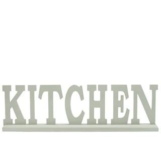 """UTC46033: Wood Alphabet Decor """"KITCHEN"""" on Base Coated Finish Sage"""