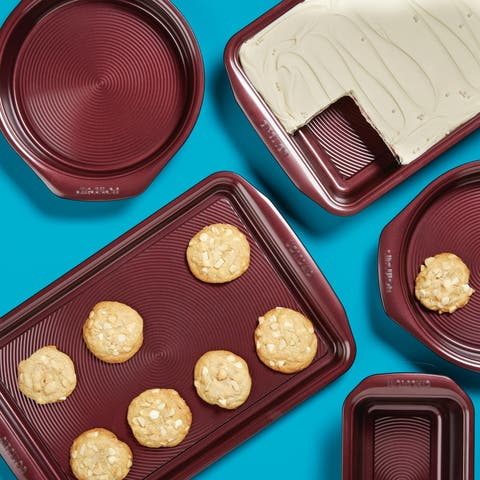 Circulon Nonstick Bakeware 5-Piece Bakeware Set, Merlot