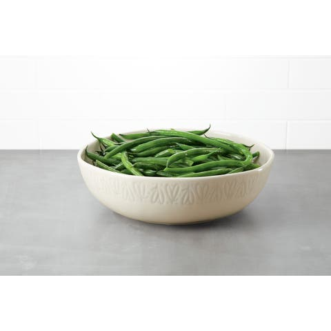 Ayesha Collection Ceramic Serving Bowl,10-Inch, French Vanilla