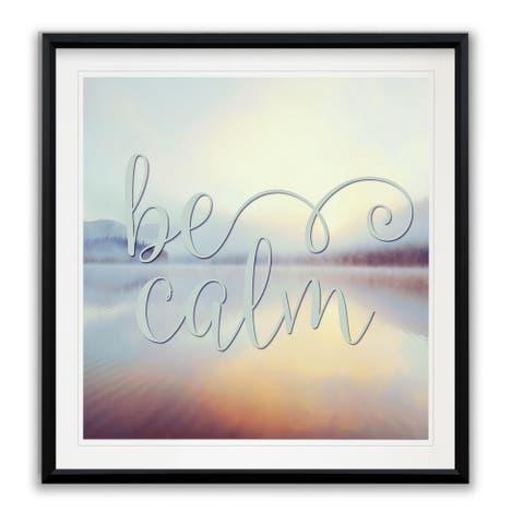 Be Calm -Framed Giclee Print