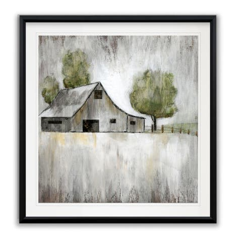 Weathered Barn -Framed Giclee Print