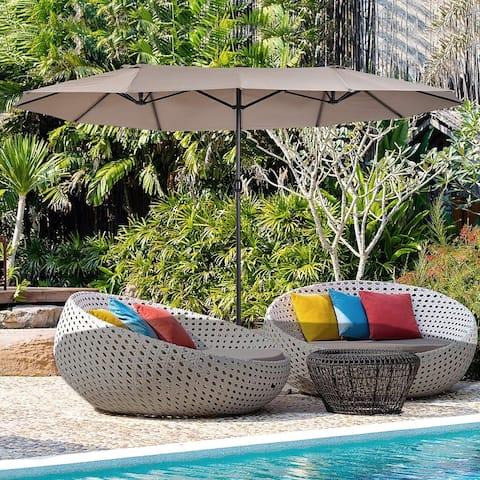 North Bend 15-foot Rectangular Outdoor Market Umbrella by Havenside Home