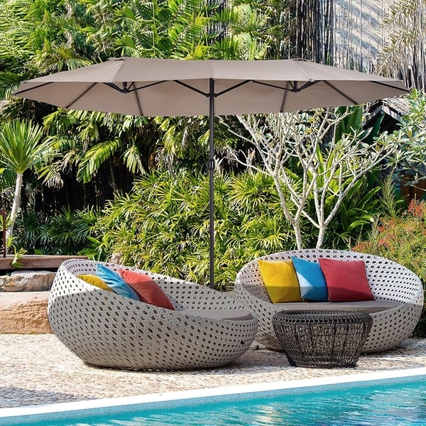 North Bend 15ft Rectangular Outdoor Market Umbrella by Havenside Home, Base Not Included. Opens flyout.