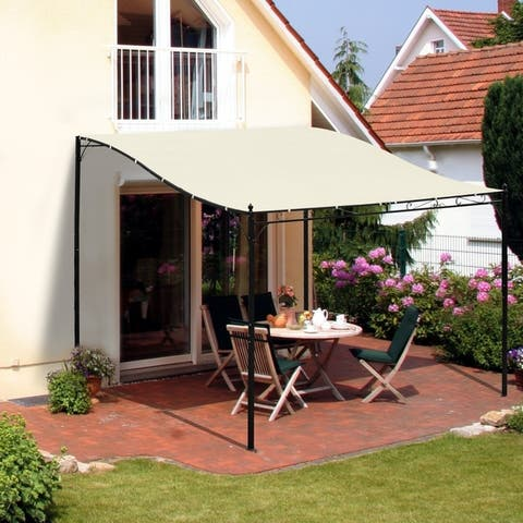 Outsunny 10' x 10' Foot Steel Outdoor Pergola Patio Canopy Gazebo